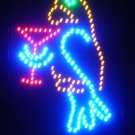 SWEDLEDParrot - 18x12 Parrot w/Martini Glass Motion LED Sign