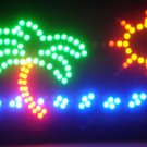 SWEDLEDPalmTreeOcean - 19x10 Palm Tree Ocean LED Sign