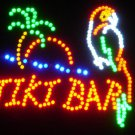 SWEDLEDTikiParrot - 18x16 Large Tiki Bar w/Parrot Motion LED Sign