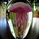 """4"""" Glowing Pink Glass Jellyfish  SWEDJellyPink45"""