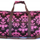 "22"" Brown w/Pink Sheild Print Bag SWDSIDSI1046"
