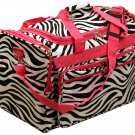 "22"" Black and white zebra print / pink trim travel Bag  SWDSI1134"