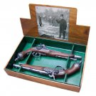 Colonial 1865 Italian Percussion Dueling Flintlock Set. SWDSI1103G-PR