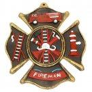 Fireman Cast Iron Wall Plaque: Visitors & Life's Goal - SWIWG    0170S-05207