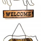 Bear Welcome Plaque in Two Styles, Price Each - SWIWG  0144-43964