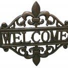 Fleur De Lis Welcome Sign Cast Iron - SWIWG 021-52299