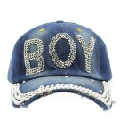 SWRUBJKH62703RDBUA - BLUE MESSAGE BOY  HAT AND CAP