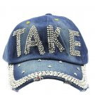 SWRUBJKH62704DRDBLU - BLUE MESSAGE TAKE  HAT AND CAP
