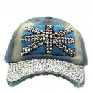 SWRUBNLH2302RDBUA - GRAY LUCITE STONE BUCKLE  HAT AND CAP