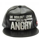 SWRUBNLH2276GDWHT - WHITE MESSAGE ANGRY  HAT AND CAP