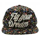 SWRUBNLH2280MLT - MULTICOLOR MESSAGE FLY YOUR DREAM  HAT AND CAP