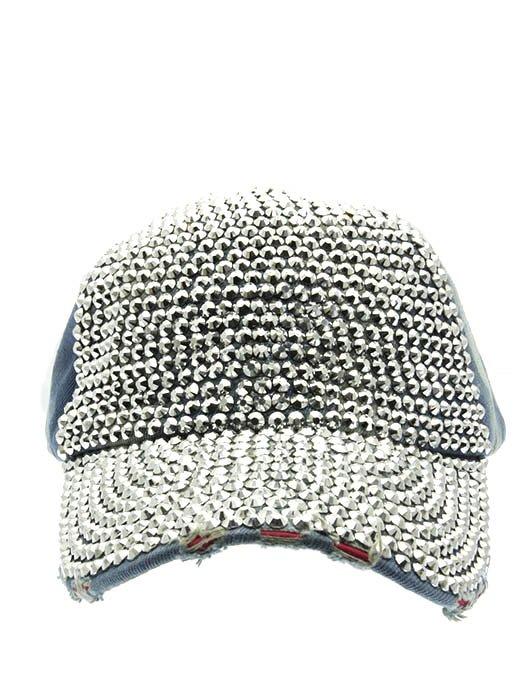 SWRUBNLH2272RDBLU - BLUE LUCITE STONE BUCKLE  HAT AND CAP