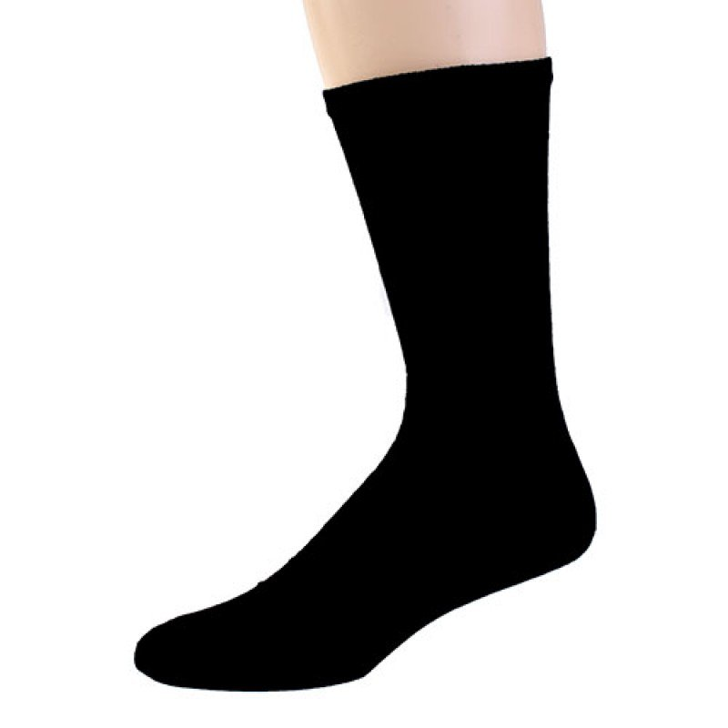 SIZE 10-13  1 DOZEN AMERICAN MADE MEN'S SOLID BLACK CREW SOCKS SWALSKC10SBLK