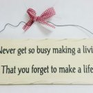 "10"" x 4"" Wooden Sign Decor - Life - SWEDWP336"