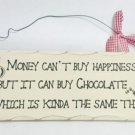 "10""x4"" Wooden Sign Decor - Buy Happiness - SWEDWP333"