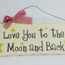 "10""x4"" Wooden Sign Decor - To the Moon - SWEDWP335"