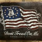 16'' X 12.5'' Don't Tread On Me Flag Tin Sign  SWEDD1873