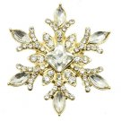SNOWFLAKE METAL PIN AND BROOCH - SWRUBMMP30899GDCLR