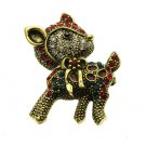 REINDEER METAL PIN AND BROOCH - SWRUBKIP930511NAGMLT