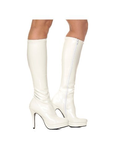 Size 7 White Knee-high Boot Adult - SWWHCE421-GROOVEW