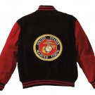 SZ 2XL Rothco MA-1 Suede Flight Jacket - Red Marines  9596