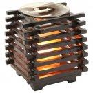 Asian Wooden Style Oil Warmer  SWEDOA258