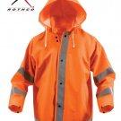 SZ Medium Rothco Safety Reflective Rain Jacket   3656