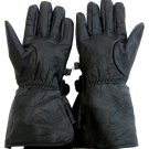 SZ SMALL  Genuine Solid Leather Gauntlet Motorcycle Gloves SWHH139-S