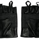 Size LARGE Genuine Leather Fingerless Motorcycle Gloves.  SWHH136 L