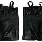 Size 2X LARGE Genuine Leather Fingerless Motorcycle Gloves.  SWHH136 2X