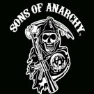 """79"""" x 96"""" Queen Size Son's of Anarchy Mink Blanket   SWEDSOABlackWhite"""