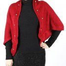 KNITTED SHRUG SCARF   SWRBSGF1005RED