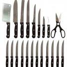FRÜGL2- 22Pc Cutlery set with Wooden Block  SWDSIMP112