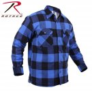 SZ 3X Large Rothco Extra Heavyweight Buffalo Plaid Sherpa-lined Flannel Shirts - 3741