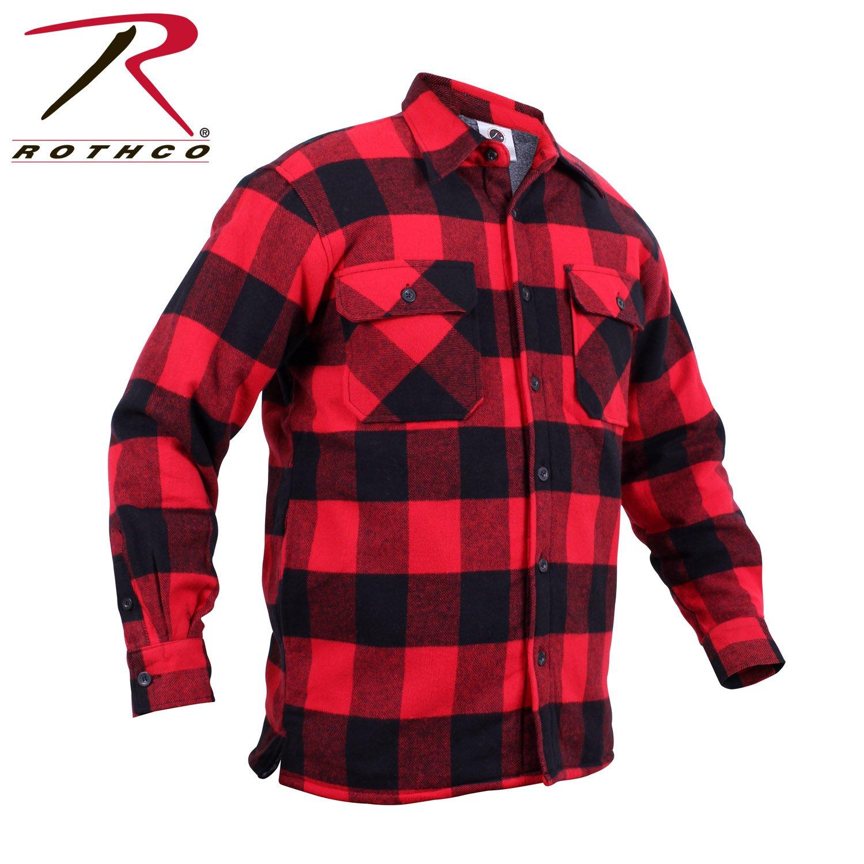 Sz medium rothco extra heavyweight buffalo plaid sherpa for Sherpa lined plaid shirt