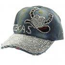 SWRUBHAH277007BBLU- TEXAS HIP HOP HAT AND CAP