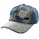 SWRUBHAH277007CBLU- TEXAS HIP HOP HAT AND CAP