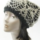SWRUBDAH20440BLK - CROCHETED LAYER WINTER BEANIE HAT AND CAP