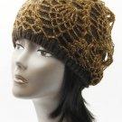 SWRUBDAH20440BRO - CROCHETED LAYER WINTER BEANIE HAT AND CAP