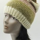 SWRUBDAH20633BEG - POM POM WINTER BEANIE HAT AND CAP