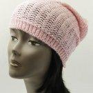 SWRUBDAH2874PNK - CROCHETED WINTER BEANIE HAT AND CAP