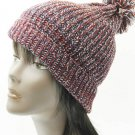 SWRUBDAH8144RED - POM POM WINTER BEANIE HAT AND CAP