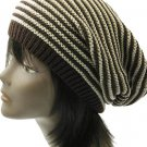 SWRUBDAH3306BRO- KNITTED BEANIE HAT AND CAP
