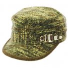 SWRUBDAH4269BRO- WOOL BLEND MILITARY STYLE HAT AND CAP