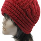 SWRUBBTH4212BUR- DOUBLE LAYERED WINTER BEANIE HAT AND CAP