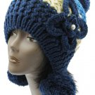 SWRUBBTH50721BLU- EAR FLAP WINTER BEANIE HAT AND CAP