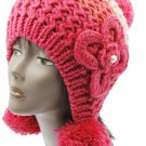 SWRUBBTH50721PNK- EAR FLAP WINTER BEANIE HAT AND CAP