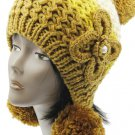 SWRUBBTH50721YEW- EAR FLAP WINTER BEANIE HAT AND CAP