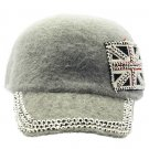 SWRUBKYH8146GRY - GREAT BRITAIN FLAG HIP HOP HAT AND CAP
