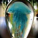 "4"" Glowing Light Blue Glass Jellyfish  SWEDJellyLightBlue45"